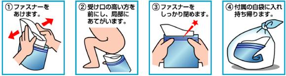 携帯用ミニトイレ プルプル 使用方法